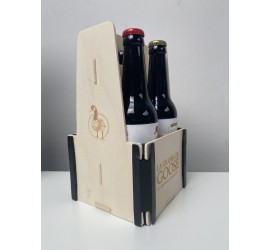 Caja de madera 4 botellas